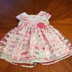 Marmellata floral sheer 24 months dress D200:3:10